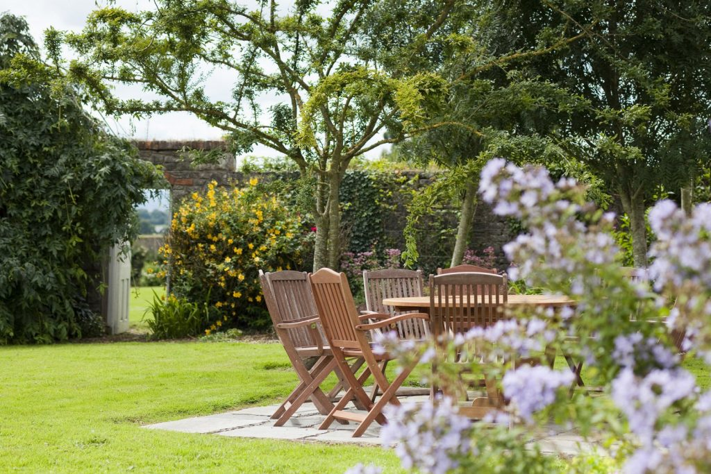 View of Lisheen Castle Garden for your Castle Vacation