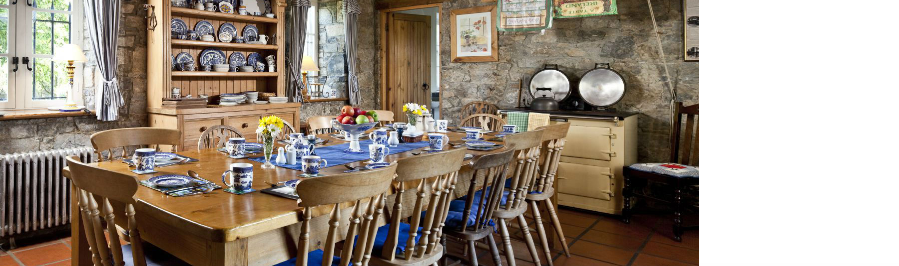 Traditional Irish Kitchen - Castle holiday Ireland