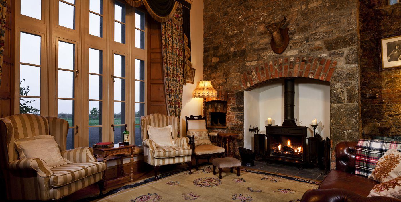 Castle Library - luxury vacation rental Ireland