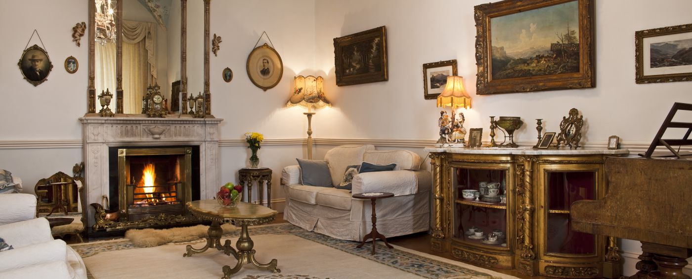 Castle Drawing Room - luxury castle accommodation Ireland