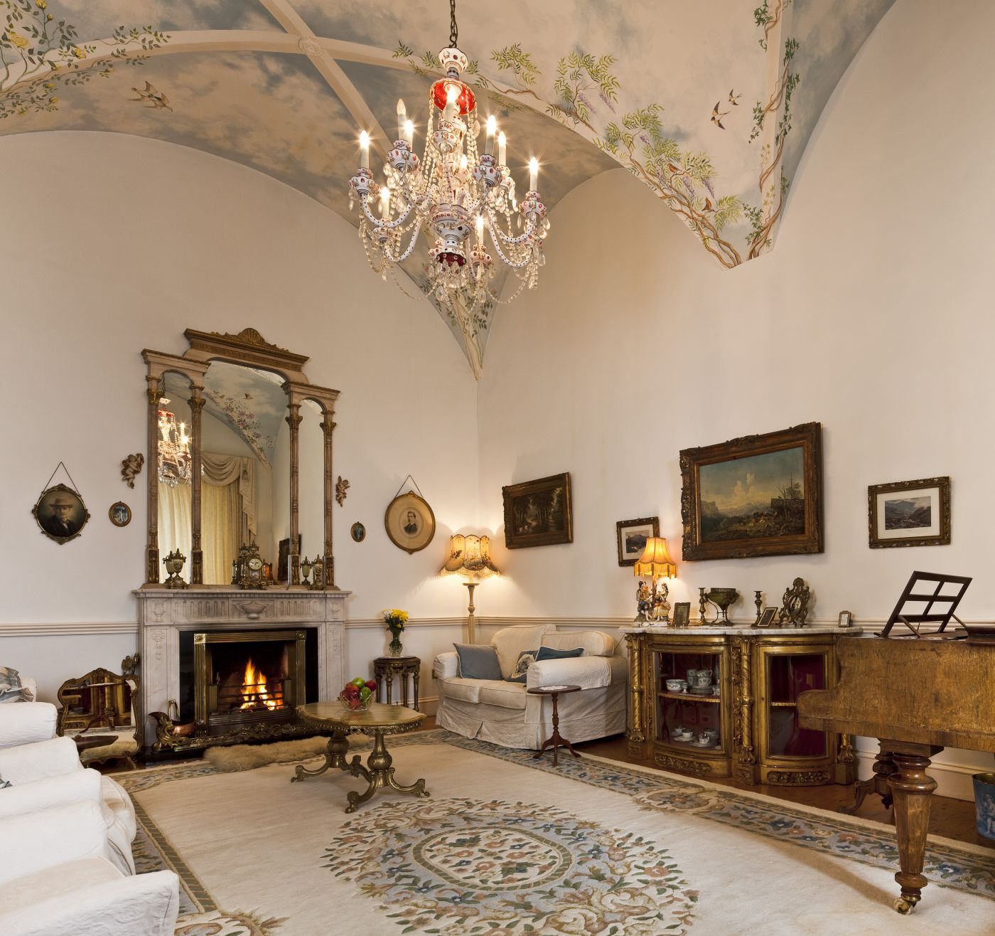 Castle Drawing Room - luxury castle rental Ireland