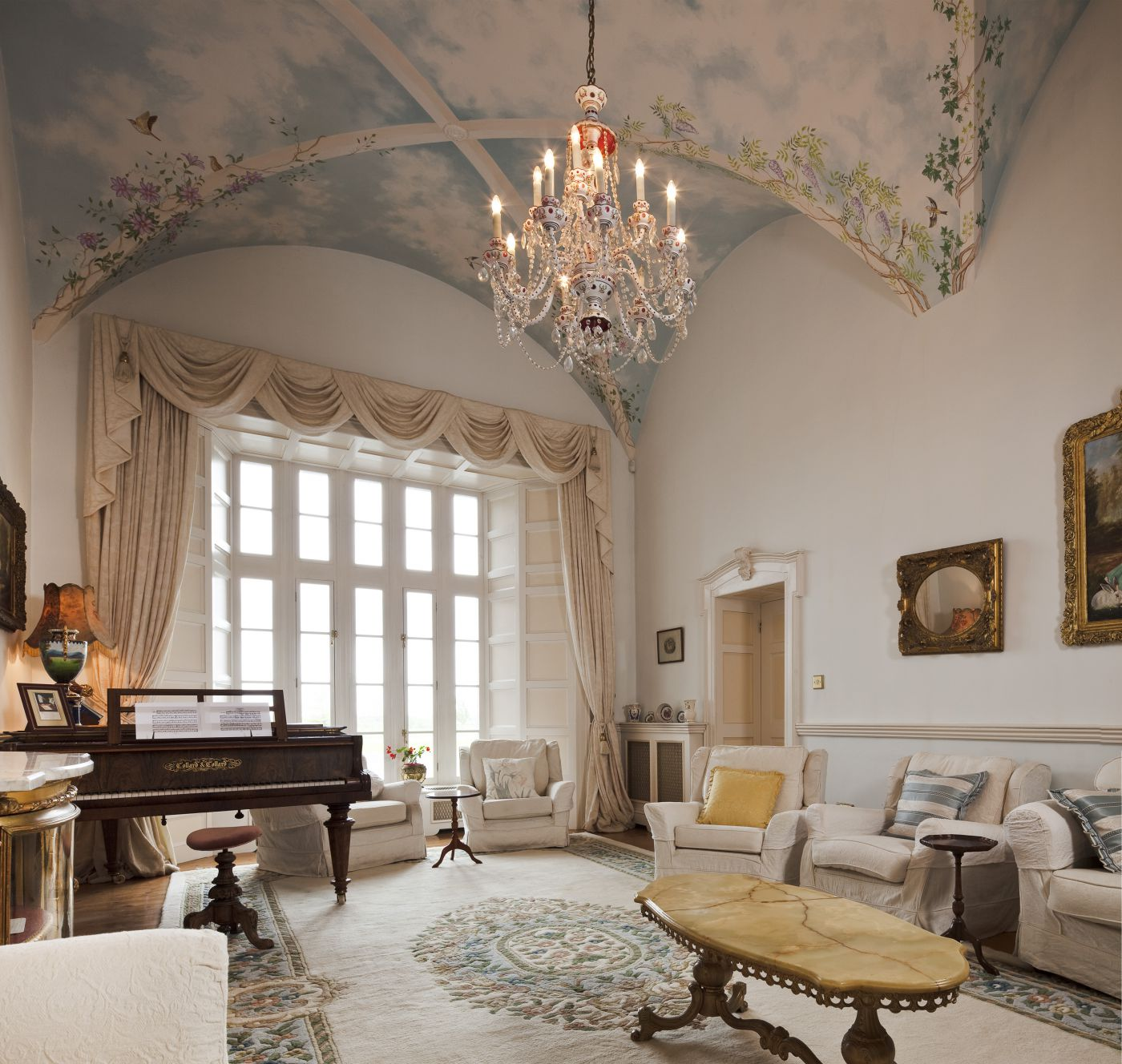 Castle Drawing Room - luxury castle accommodation Ireland | Castle Wedding Venue