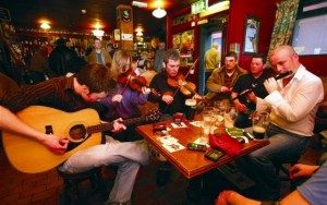 Traditional Irish Music Session on Lisheen Castle Tour of Ireland