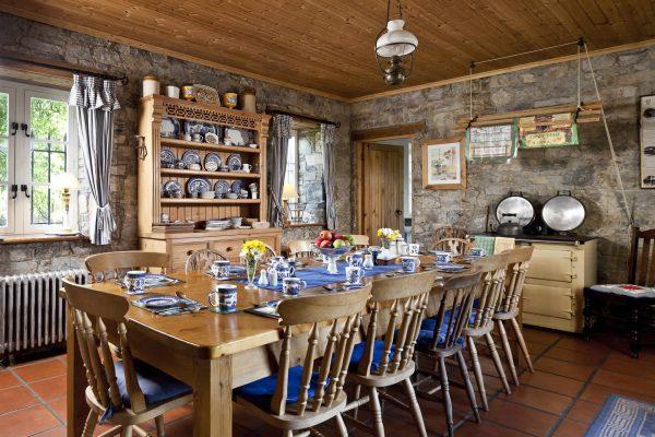 Traditional Irish Castle Kitchen - castle vacation