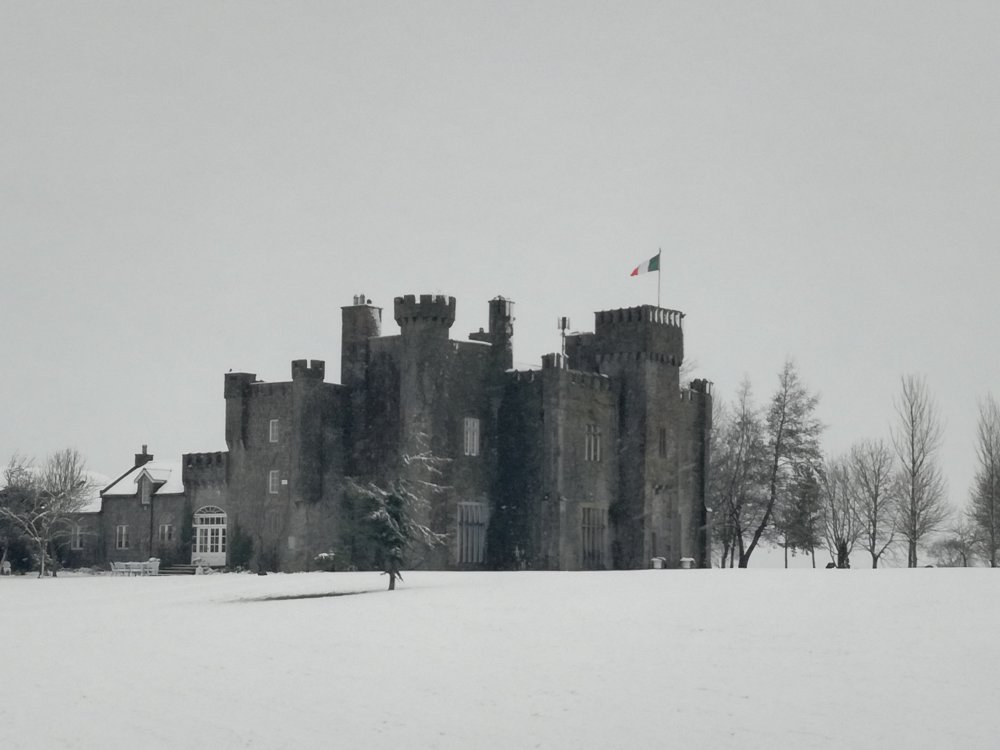 Lisheen Castle covered in snow